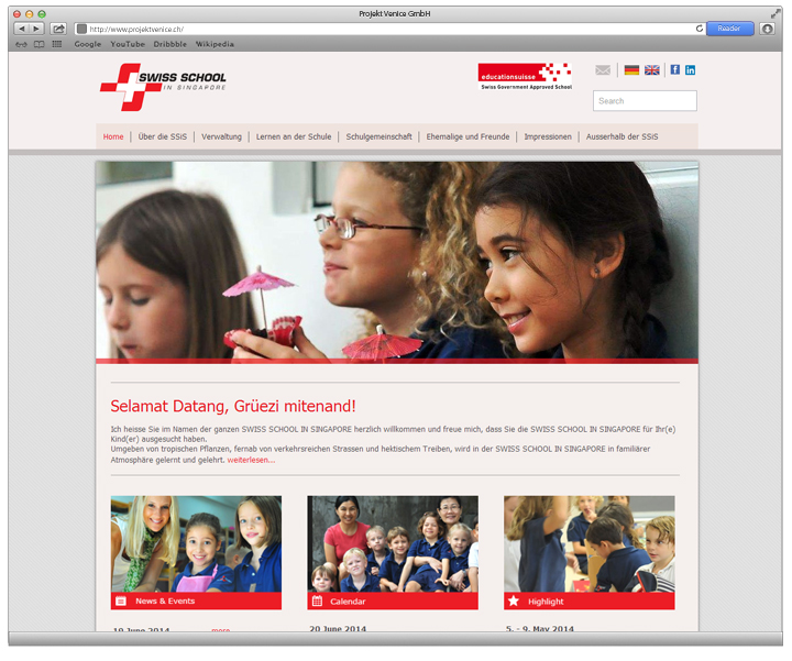 Referenz Swiss School Singapore