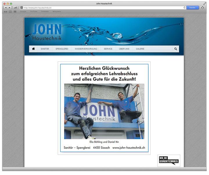 Referenz John Haustechnik